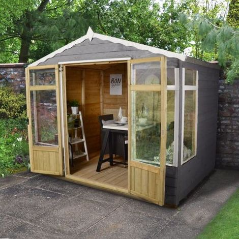 Forest Garden Oakley 8x6 Overlap Pressure Treated Summerhouse