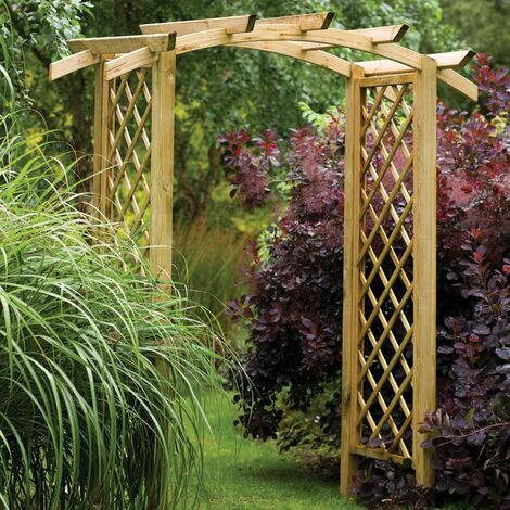 """main image of """"Forest Genoa Wooden Garden Arch 6'x3'"""""""