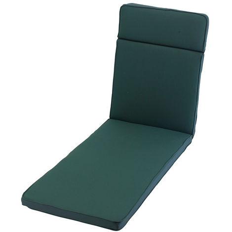 Forest Green Sun Lounger Cushion Outdoor Garden Furniture Cushion