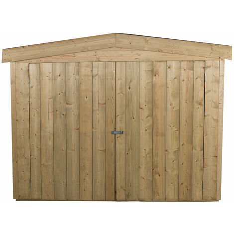 Forest Large Double Door Apex Wooden Garden Storage - Bike/Mower Outdoor Store