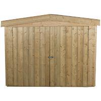 Forest Large Double Door Apex Wooden Garden Storage - Bike/Mower Outdoor Store