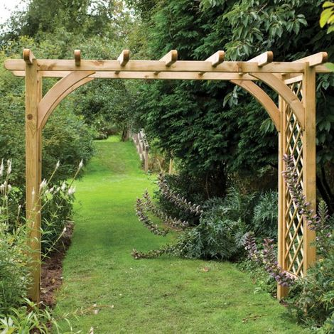 Forest Large Ultima Wooden Garden Pergola Arch 9'x4'