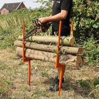 Forest Master Bulk log stand spike wood log saw horse multi wood holder chainsaw cutting BLSS