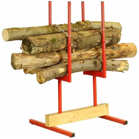 Forest Master Bulk log stand wood log saw horse multi timber holder for chainsaw cutting BLS2