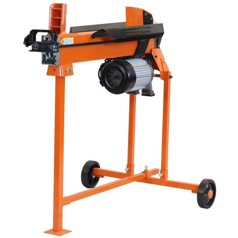 Forest Master FM10T 5 Ton duo-cut electric log splitter hydraulic ramstop stand - See video