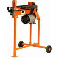 Forest Master FM5T Fast lightweight compact 5 Ton electric hydraulic log splitter with stand
