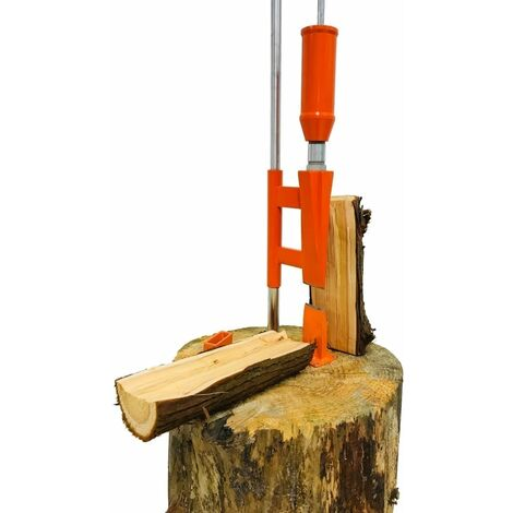 Forest Master Heavy Duty Smart Log Splitter manual cutter axe duo-cut kindling hatchet See video