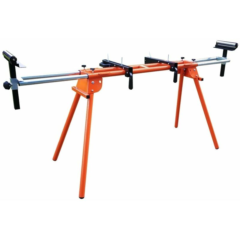 Image of Mitre Saw Stand Workbench with Roller Supports - Forest Master