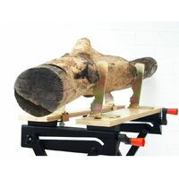 Forest Master wood log saw horse holder clamp jaws fits workmate workbench chainsaw cutting 25mm