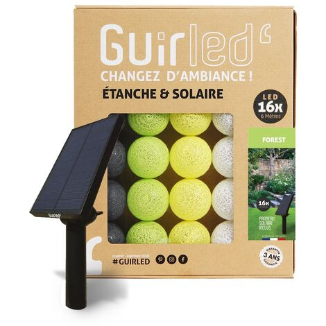 Forest Outdoor Guirlande lumineuse Guinguette Solaire boules LED