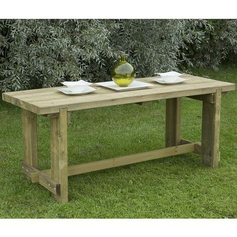 """main image of """"Forest Refectory Wooden Garden Table 6'x2' (1.8x0.7m)"""""""