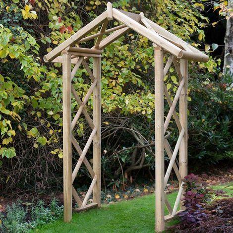 Forest Rose Wooden Garden Arch 9'6'