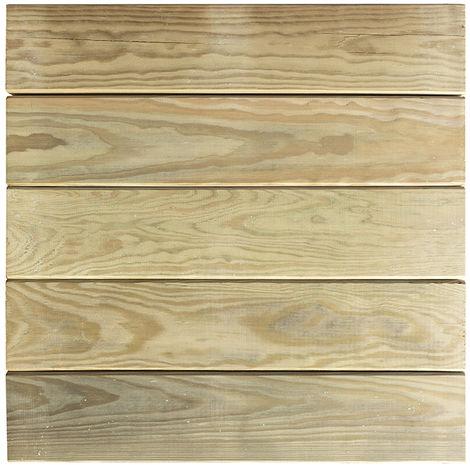 Forest-Style - Dalle de Terrasse en Bois - AMELIA - 500x500 mm - Traitée classe IV- Ep 44 mm
