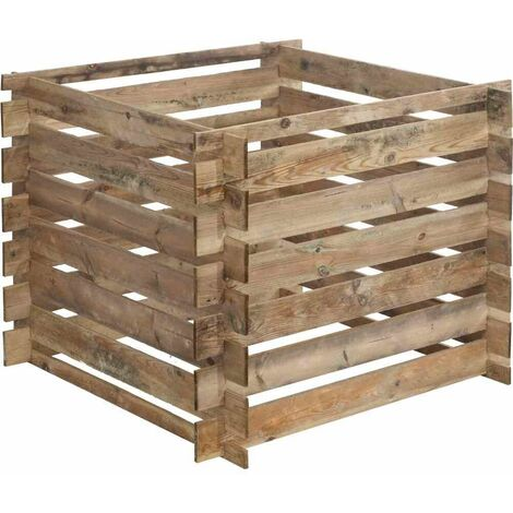 FOREST-STYLE Komposter Mezzito 480L, Maße: 100x100x72cm 100x100x72cm