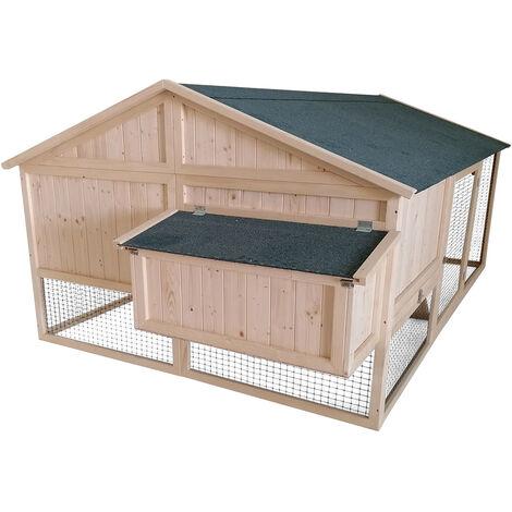 Forest Style- Poulailler avec enclos CHARLIE – 6 à 8 poules- 5,3m²