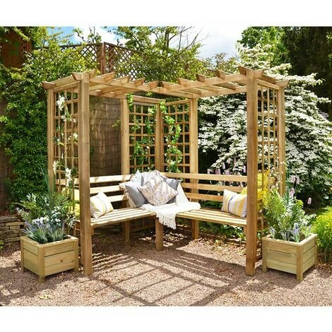 """main image of """"Forest Sunflower Arbour Seat (Sorrento)"""""""