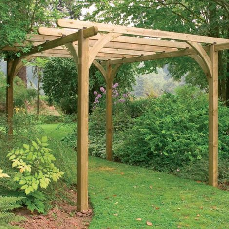 Forest Ultima Wooden Garden Pergola Kit 7'x7'