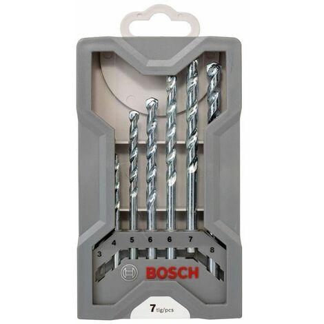 Foret à matériaux CYL-1, lot de 7 pièces - Bosch 2607017079