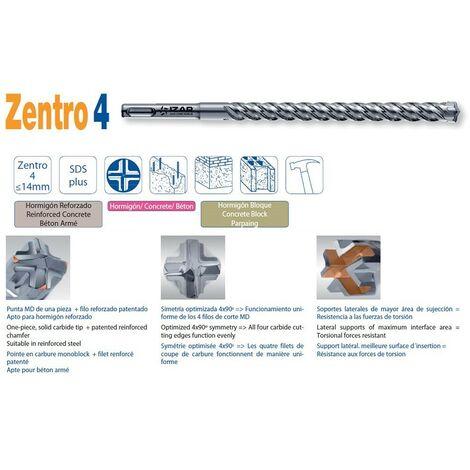 Foret béton armé SDS 4 pointes Zentro4 (6.5 mm - 160 mm)