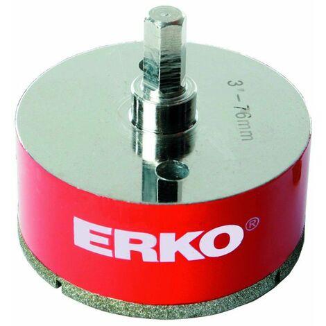 Foret diamant pour scie trépan ERKO - Hexagonale - Hexa 11 mm - Diamètre 67 mm