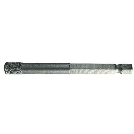 Foret diamanté grès cérame D. 8 mm Ht. 32 mm emmanchement 6 pans de 1/4 à eau - 65.008 - Leman - -