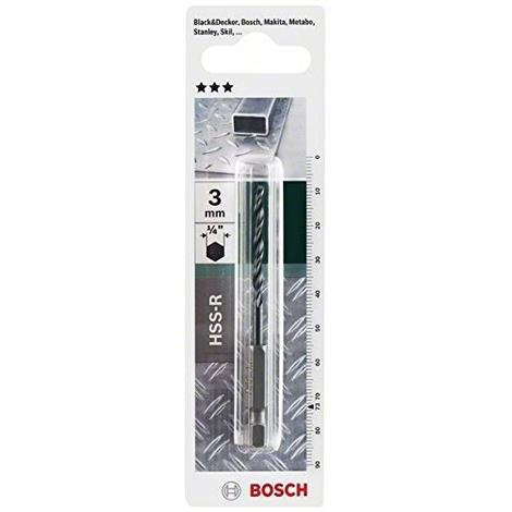Bosch 2609255140 Foret à Métaux Hélicoïdal Hss R Din 338 Avec Queue Six Pans 1 4