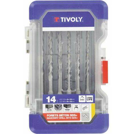 Forets à béton SDS - Coffret de 14 pièces - Tivoly