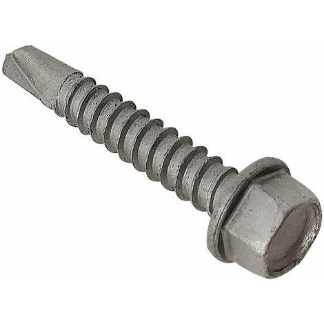 Forgefix TFHUWSD5545L TechFast Roofing Sheet to Steel Hex Screw No.3 Tip 5.5 x 45mm Box 100