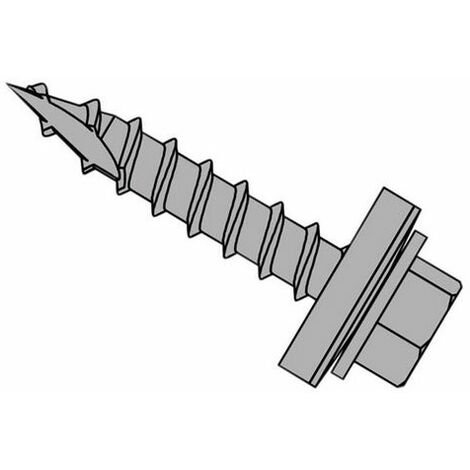 """main image of """"Forgefix TFHW16GP6325 TechFast Metal Roofing to Timber Hex Screw T17 Gash Point 6.3 x 25mm Box 100"""""""