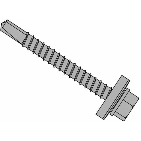 Forgefix TFHW16SD5545L TechFast Roofing Sheet to Steel Hex Screw & Washer No.3 Tip 5.5 x 45mm Box 100