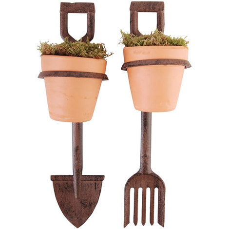 Fork and Spade Flower Pot Holders