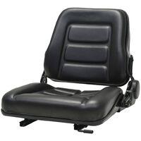 Forklift & Tractor Seat with Adjustable Backrest Black