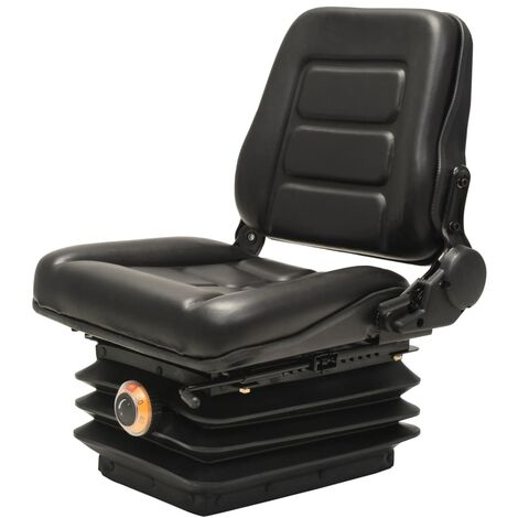 Forklift & Tractor Seat with Suspension and Adjustable Backrest