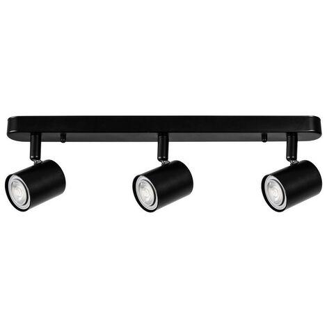 """main image of """"Forlight Keeper Triplex - Triple Adjustable Spotlight Bar GU10 Black"""""""