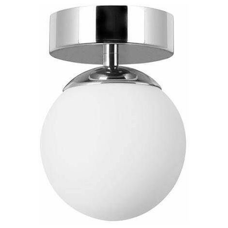 Forlight Petit - Bathroom LED Flush Globe Ceiling Light Chrome 650lm 3000K IP44