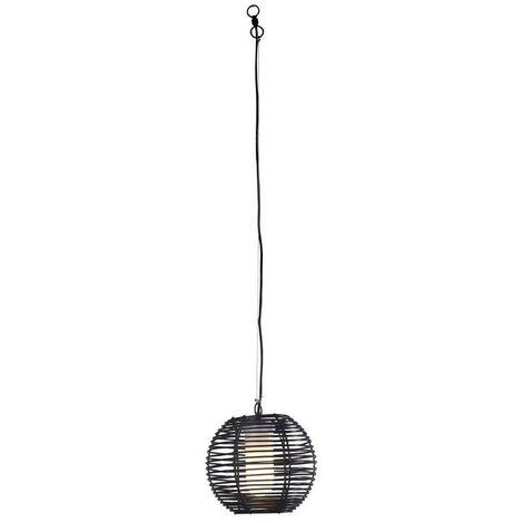 Forlight Rhiana - Bathroom Wire Ceiling Pendant Urban Grey Black 1x E27 IP44