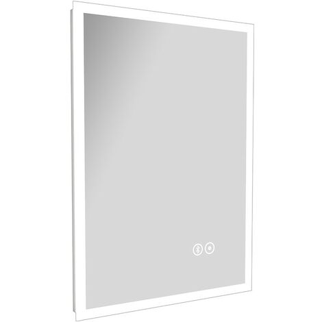 Form LED Illuminated Bluetooth Mirror With Demister & Touch Sensor 500mm x 700mm