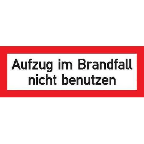 FORMAT Brandsch Schild Alu Aufzug Brandf.148x52mm