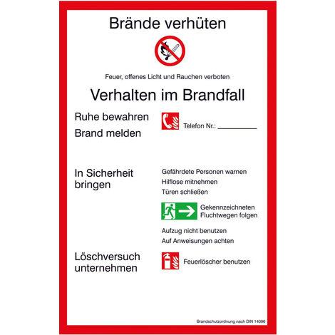 FORMAT Brandschutzordnung (PVC) 200x300mm