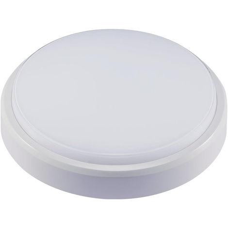 LED Armatur rund 10W 4000K IP54 weiß