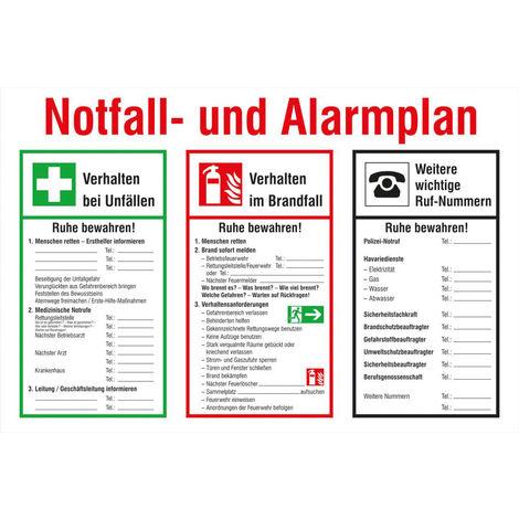 FORMAT Notfall und Alarmplan Kunststoff (PVC)
