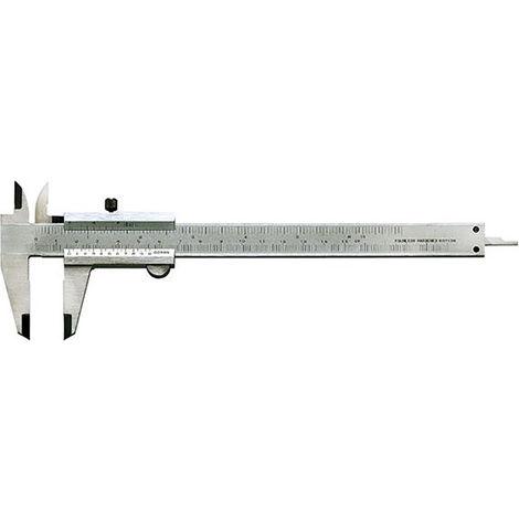FORMAT Taschenmessschieber mit Feststellschraube 150mm Radialpolt.