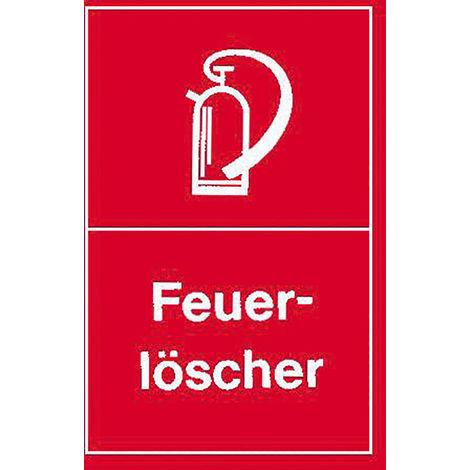Feuerlöscher Schild Kunststoff nachleuchtend 150 x 150mm Löscher Brandschutz
