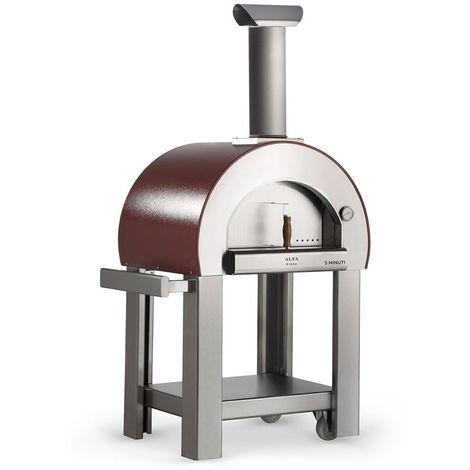 Forno A Legna Da Esterno Cottura Diretta In Acciaio Alfa Pizza 5
