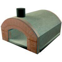 Forno a legna PIZZA SORRENTO refrattario prefabbricato esterno con arco bocca 5 pizze