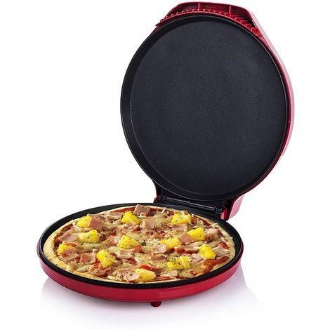 Forno Fornetto per Pizza Maker con Termostato Regolabile 1450 Watt Rosso