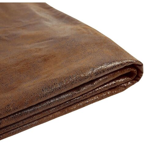 Forro de gamuza marrón para la cama 160x200 cm FITOU