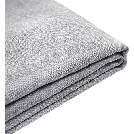 Forro de tela gris claro para la cama 160x200 cm FITOU