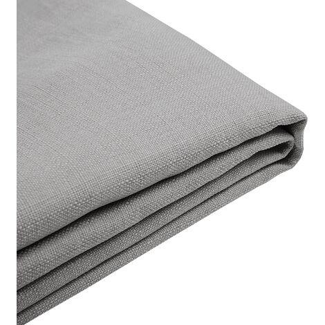 Forro de tela gris claro para la cama 180x200 cm FITOU