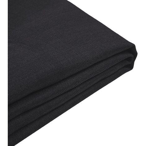 Forro de tela negra para la cama 160x200 cm FITOU